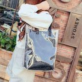 手提包夏天包包女2018新款韓版潮透明果凍子母包百搭休閒單肩手提大包包 萬聖節