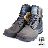 Palladium 新竹皇家 PAMPA SPORT 藍灰色 防水系列 軍靴 皮質 高筒 男女款 NO.B0116