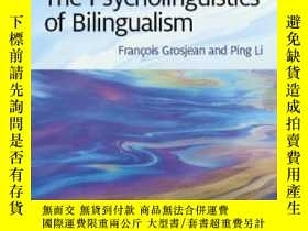 二手書博民逛書店The罕見Psycholinguistics Of Bilingualism-雙語心理語言學Y436638 F