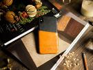 alto iPhone X 真皮手機殼背蓋 5.8吋 Metro - 焦糖棕/渡鴉黑【可加購客製雷雕】皮革保護套