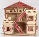 木制仿真模型3D益智玩具木質立體拼裝別墅房子建筑DIY小木屋  hh516『美鞋公社』