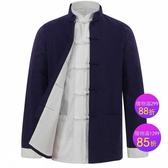 唐裝男中老年外套 加厚老純棉粗布中式復古中國風民族居士服太極服