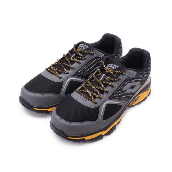 LOTTO CROSS RUN 防潑水戶外越野鞋 黑黃 LT0150 男鞋 鞋全家福