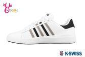 K-SWISS 男款 休閒鞋 PERSHING COURT LIGHT 真皮 運動鞋 C9993#白黑◆OSOME奧森鞋業