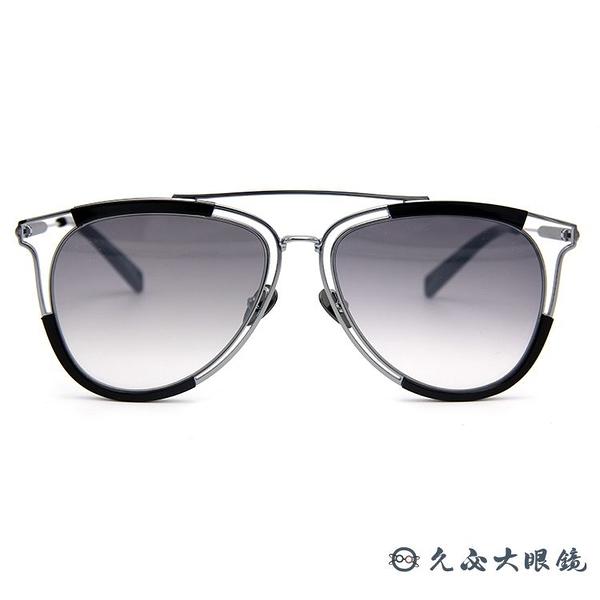 HAZE 太陽眼鏡 貓眼 雙槓 墨鏡 ARCH-1BK 黑-銀 久必大眼鏡