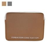 【台中米蘭站】全新品 Louis Vuitton 展覽館收藏版 避震筆電包(駝/灰)