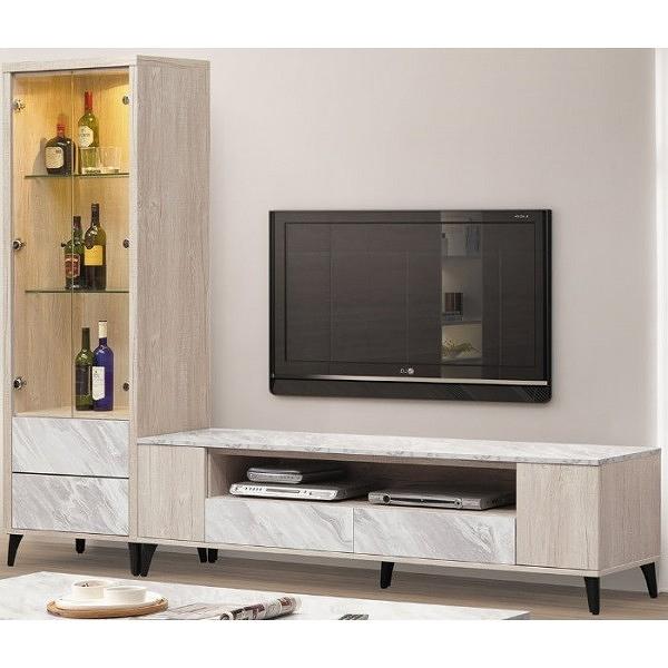 電視櫃 PK-391-41 白橡色7尺長櫃【大眾家居舘】