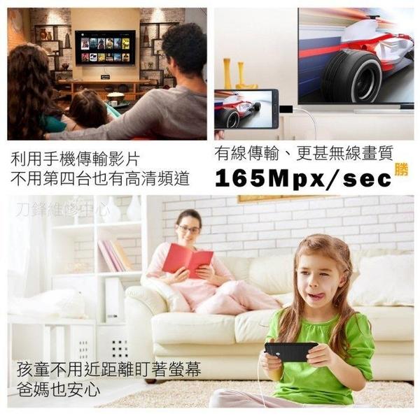 【刀鋒】現貨供應 蘋果安卓雙用投屏傳輸線 鏡像影音線 家庭KTV 蘋果 安卓 手機 平板 支援