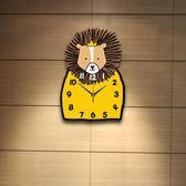 獅子靜音卡通掛鐘客廳臥室鐘錶可愛兒童房鐘錶幼兒園教室卡通鐘錶 igo