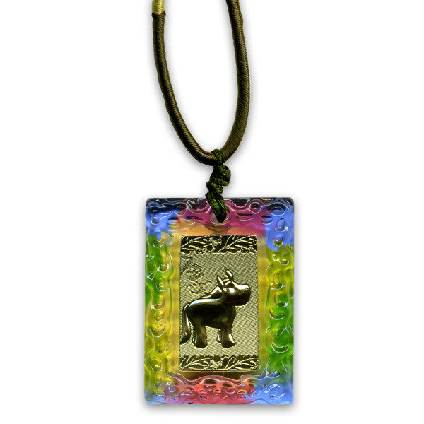鹿港窯~居家開運金箔琉璃項鍊~十二生肖-馬◆附精美包裝