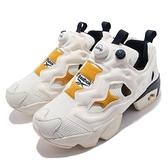 Reebok 休閒鞋 Instapump Fury OG 米白 黃 充氣 男女鞋 經典款【ACS】 GY5304