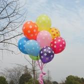 加厚12寸糖果色圓點波點點氣球婚慶婚房生日派對布置裝飾氣氛氣球