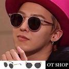 OT SHOP太陽眼鏡‧中性情侶款‧現貨金屬鏡框超質感設計復古金屬風格雷朋太陽眼鏡‧金框全黑N37