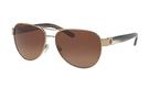 Tory Burch 【美國代購】女款 太陽眼鏡0TY6051 淺金/棕色漸變偏光
