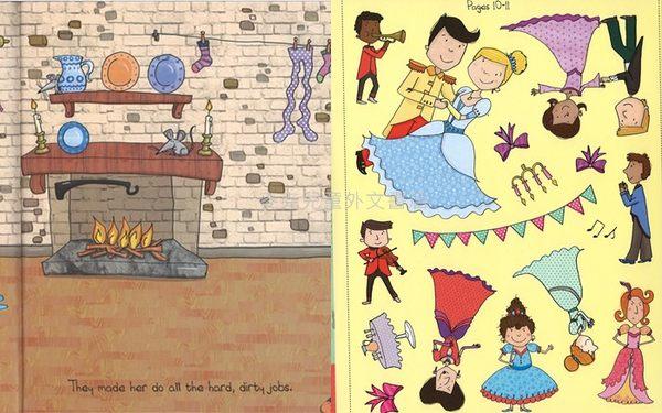 【麥克書店】六款故事/內附150-300張貼紙/大開本彩色頁 (童話故事之活動貼紙書)