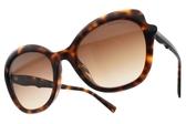 Tiffany&CO.太陽眼鏡 TF4154F 8002-3B (琥珀棕-漸層棕鏡片) 蝴蝶造型大框款 墨鏡 # 金橘眼鏡