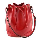 【奢華時尚】秒殺推薦!LV 紅色EPI麥穗壓紋肩背大水桶包(八成新)#23701