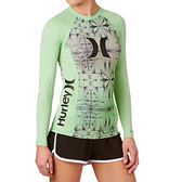 Hurley ONE & ONLY LONG SLEEVE RASHGUARD 長袖防磨衣-女(綠)