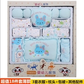 衣服棉質剛出生衣服新生兒禮盒0-3個月6套裝春秋冬季寶寶用品【快速出貨】