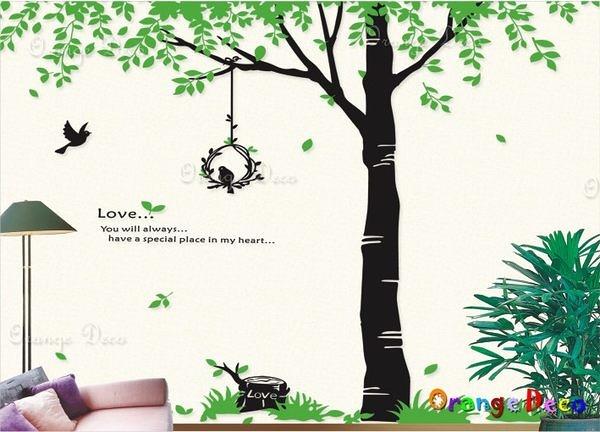 壁貼【橘果設計】樹梢林蔭 DIY組合壁貼/牆貼/壁紙/客廳臥室浴室幼稚園室內設計裝潢