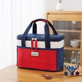 飯盒袋子便當袋手提包保溫袋大號大容量鋁箔隔熱加厚【古怪舍】