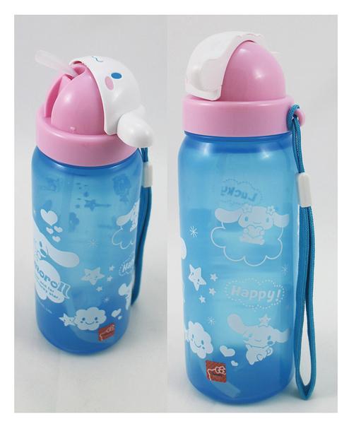 【卡漫城】 大耳狗 吊繩 吸管 水壺 500cc ㊣版 日本限定版 Cinnamoroll 三麗鷗 水瓶 幼兒 公仔造型