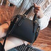 手提包包包女潮韓版百搭斜背斜背包時尚水桶包簡約大包包手提包 果果輕時尚