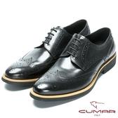 CUMAR 英倫紳士 舒適胎牛皮經典牛津鞋-黑胎牛色