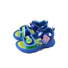 粉紅豬小妹 Peppa Pig 涼鞋 電燈鞋 藍色 中童 童鞋 PG4541 no883
