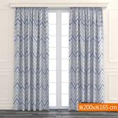 幾何彩繪遮光窗簾 寬200x高165cm