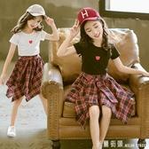 女童夏裝2020新款兒童裝洋氣套裝裙夏季大童時髦女孩12歲10潮衣服