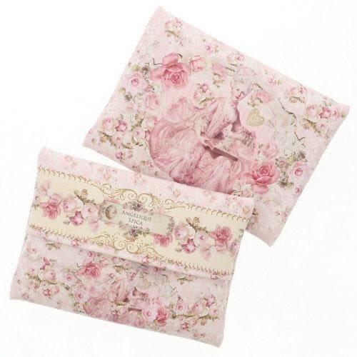 日本ANGELIQUE SPICA系列瑪莉皇后面紙套衛生紙收納包玫瑰粉984392通販屋