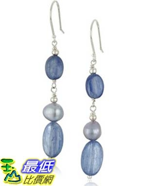 [美國直購] Kyanite Ovals with Blue Denim Dyed Freshwater Cultured Pearl Accents Drop Earrings 耳環