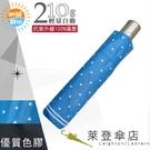 雨傘 陽傘 萊登傘 抗UV 防曬 輕 色膠 黑膠 自動傘 自動開合 Leighton 圓點 (海藍)