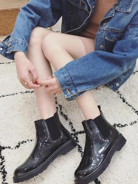 短靴 馬丁靴女2019春秋季新款韓版百搭英倫風復古切爾西靴厚底短筒靴子 2色35-40
