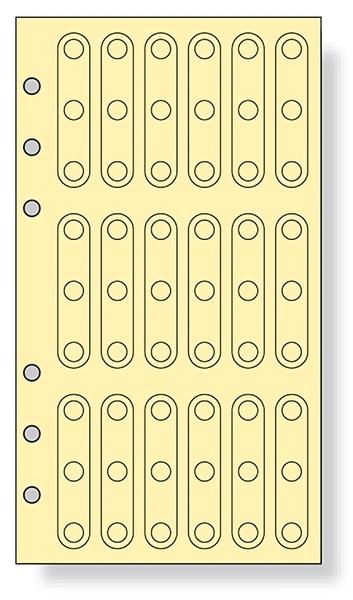 Raymay Davinci系列 內頁孔洞補強貼 聖書尺寸6孔萬用手冊 手帳用 DR334 宣弟精品文具館