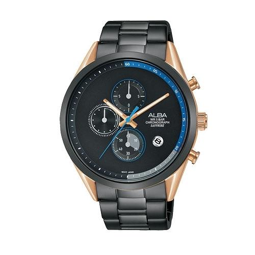 ALBA雅柏  情人限定計時手錶VD57-X135KS(AM3594X1)黑