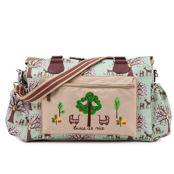 媽媽包 Pink Lining 時尚繽紛媽媽包 │  雙胞胎大樹系列 -自然叢林款 #14SS119