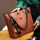包包女2021新款潮包托特包潮韓版真皮百搭斜背包手提包單肩包大包