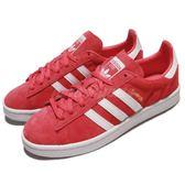 【海外限定】adidas 休閒鞋 Campus 紅 白 麂皮 經典款 百搭款 運動鞋 女鞋【PUMP306】 BY9847