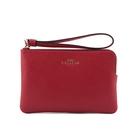 【COACH】L型皮革拉鍊手拿包(紅色) 58032 IMF8Q