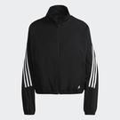 Adidas FUTURE ICONS 女裝 外套 立領 防撕布 拉鍊口袋 三條線 黑【運動世界】GU9684