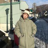 羽絨外套 韓版chic原宿學生寬鬆加厚保暖過膝連帽羽絨棉面包服外套 coco衣巷