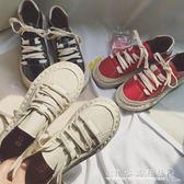 學院風日系文藝小皮鞋女學生原宿港風圓頭娃娃鞋休閒系帶大頭鞋潮『CR水晶鞋坊』