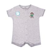 Carter s卡特 前扣式短袖兔子裝 灰猴子 | 男寶寶連身衣(嬰幼兒/baby/新生兒)