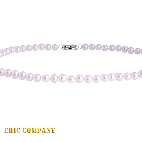【EM eileen me】日本寶石鑑定DPS專業認證 約6~7mm~天然白色珍珠項鍊