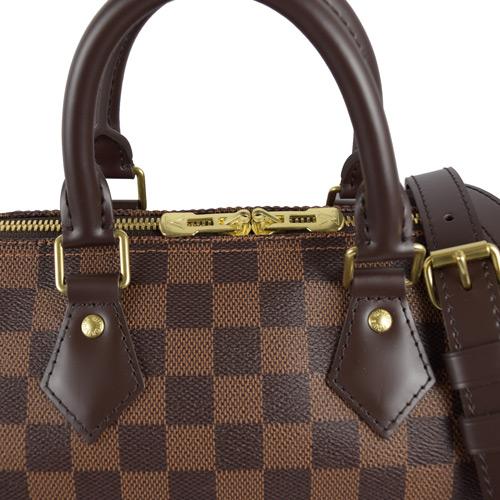 【雪曼國際精品】LV N41368 Speedy 25 cm棋盤格紋附背帶手提包─全新現貨