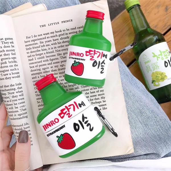Airpods Pro 專用 1/2代 台灣發貨 [ 韓國真露燒酒 ] 藍芽耳機保護套 蘋果無線耳機保護