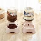 寵物自動喂食器貓糧碗自動飲水器貓食盆貓碗貓咪自動喂食器二合一【果果新品】