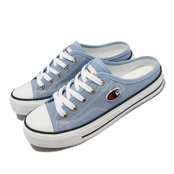 Champion 穆勒鞋 Canvas Slip 藍 白 帆布 女鞋 基本款 韓系 基本款 休閒鞋 【ACS】 WSLS101460